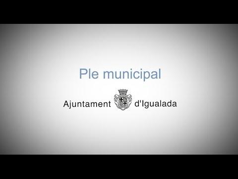 Ple Municipal Igualada 20/09/2016