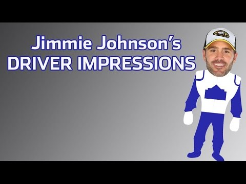 Jimmie Johnson does driver impressions