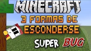 Minecraft BUG | 3 Formas De Esconderse En Barco, Cofre y Bloque De Vidrio