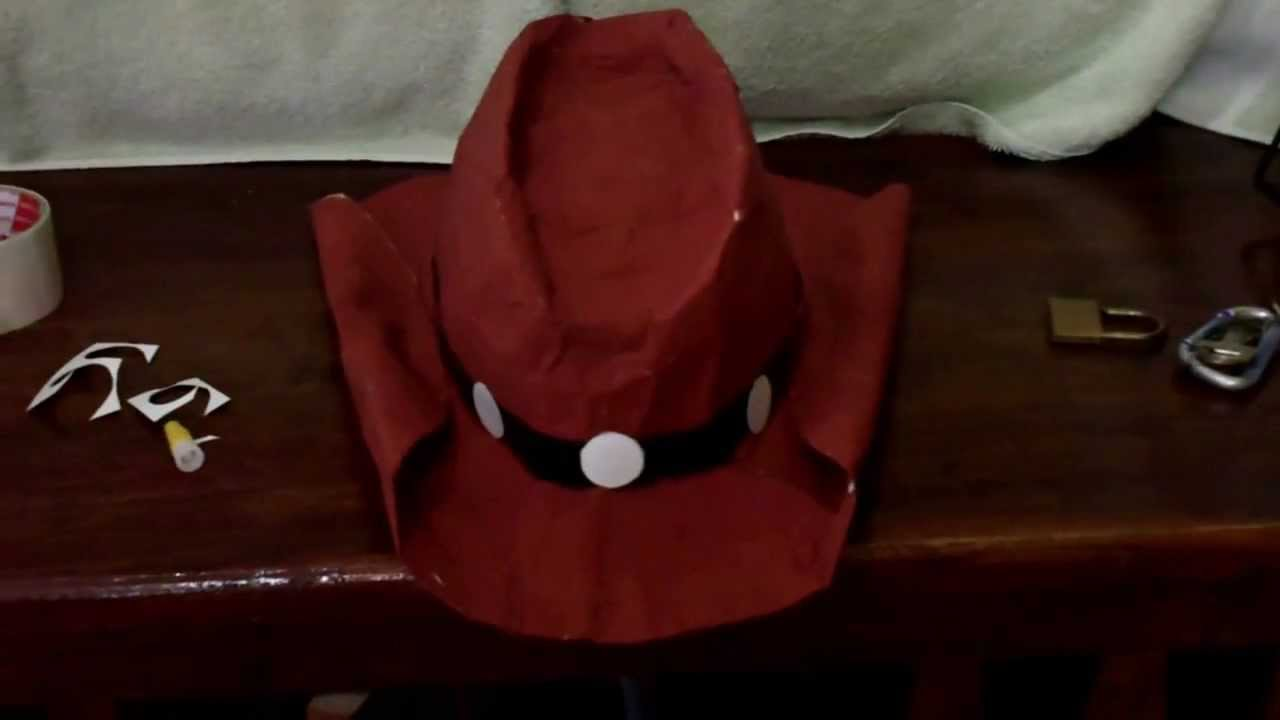 11a52658e79 DIY How to make a Cosplay Hat Tutorial - YouTube