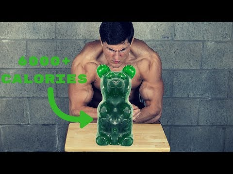 BODYBUILDER VS WORLDS LARGEST GUMMY BEAR (6000+ Calories)   Eating Challenge Gone Wrong VOMIT