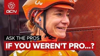 What Would You Do If You Weren't A Pro Cyclist..? | Ask The Pros At The Ovo Women's Tour thumbnail