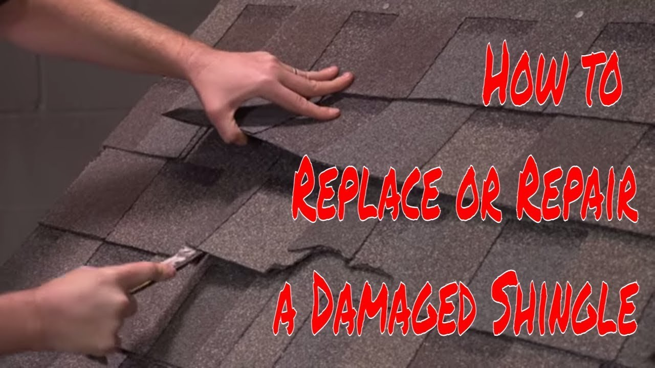 How To Replace Or Repair A Damaged Shingle By
