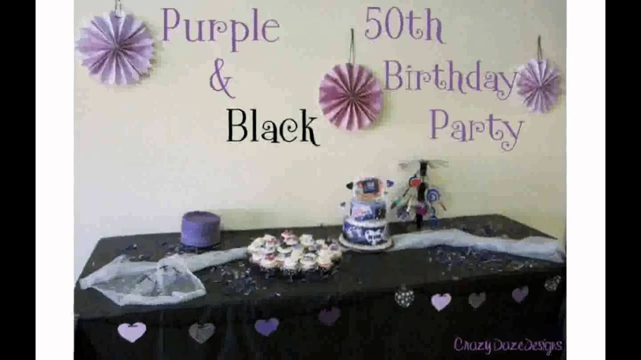 50th Birthday Decorations YouTube