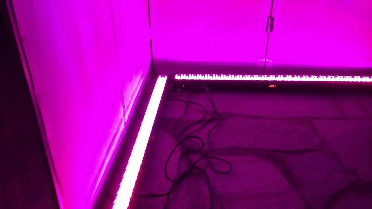 White Dj Facade With Led Light Bar Lighting Youtube