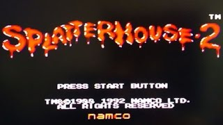 Splatterhouse 2 (Genesis) Game Master mode Completed without dying speed run!