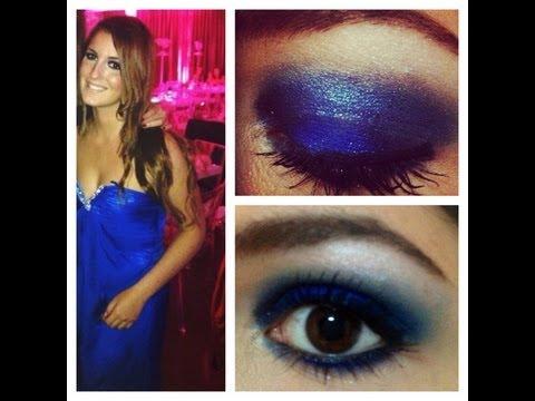 Maquillage soiree robe bleue