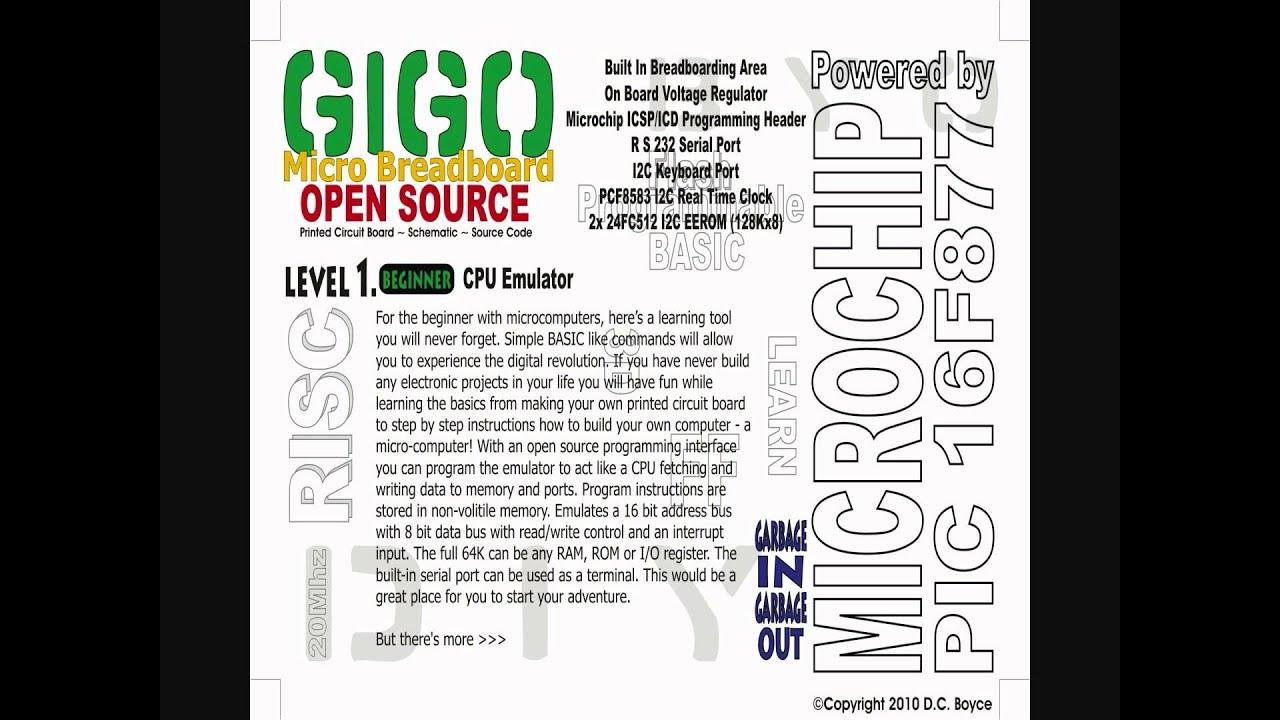GiGo Micro Breadboard - Single Board Micro-Computer - Open Source ...