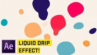 El líquido gotee Efecto After Effects CC Tutorial