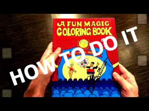 EASY TO DO MAGIC COLORING BOOK TRICK - WOW!!!! - YouTube