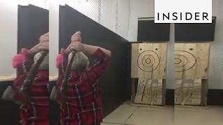 This ax throwing range is open to everybody
