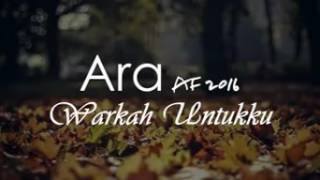 Download Mp3 Warkah Untukku - Ara Af 2016  Lirik