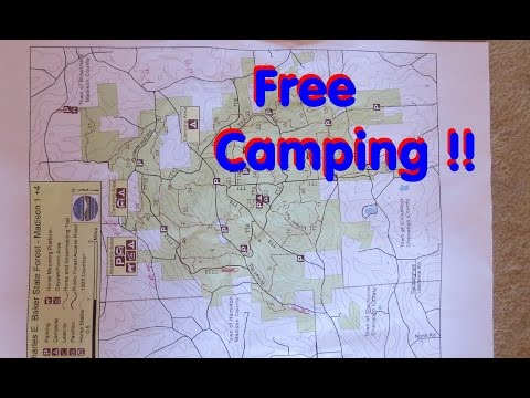 Free Boondocking Campsites in Charles Baker State Forest,  NY. and Brookfield Horse trails
