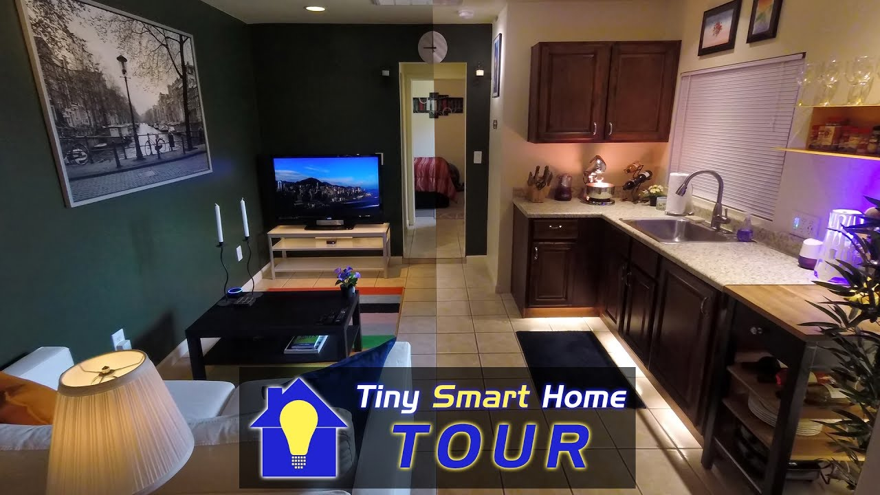 High Tech Small Space The Tiny Smart Home Tour Youtube