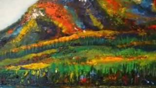 How to paint Impressionism On the Wild Riverside listening to Birds' tweets By Rami Benatar.wmv