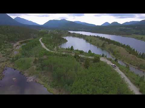 Drone Video of Driving in Remote British Columbia