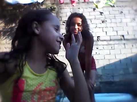 Desafio da piscina com a minha amiga