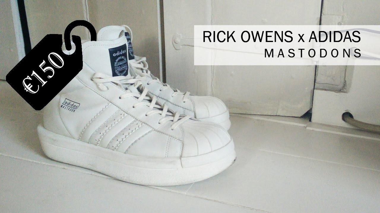 Rick Owens x Adidas Mastodon (Review) 2016 - YouTube 272714730