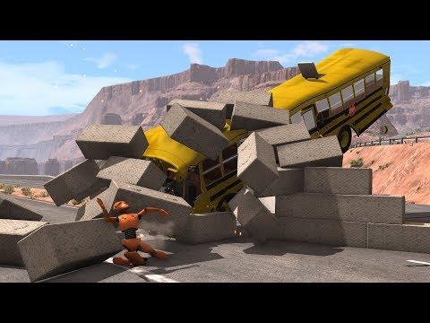 Cars vs. Concrete vs. Dummy 2 | BeamNG.drive