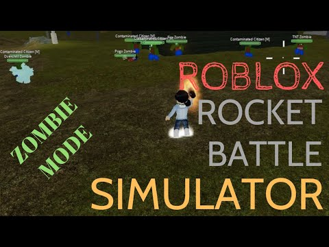 Let's Play Zombie Mode In Rocket Battle Simulator (ROBLOX)