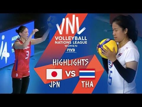 JPN vs. THA - Highlights Week 1   Women's VNL 2021
