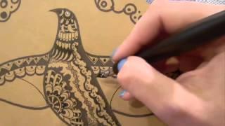 Урок рисуем: Техника Покрывание орнамента