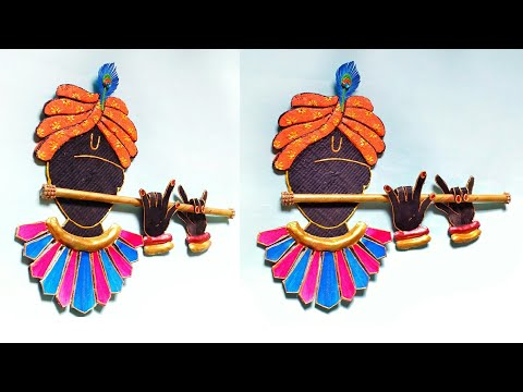 3D Krishna Wall Hanging | DIY | Wall Decor | How To Make | Creative Craft | By Punekar Sneha