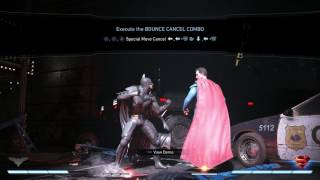 Injustice 2 - Tutorial: Bounce Cancel: (Two Bars of Meter) Bounce Special Cancel Combo Gameplay