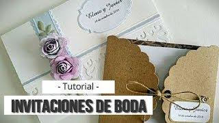 DOS SENCILLAS INVITACIONES DE BODA - TUTORIAL | LLUNA NOVA SCRAP