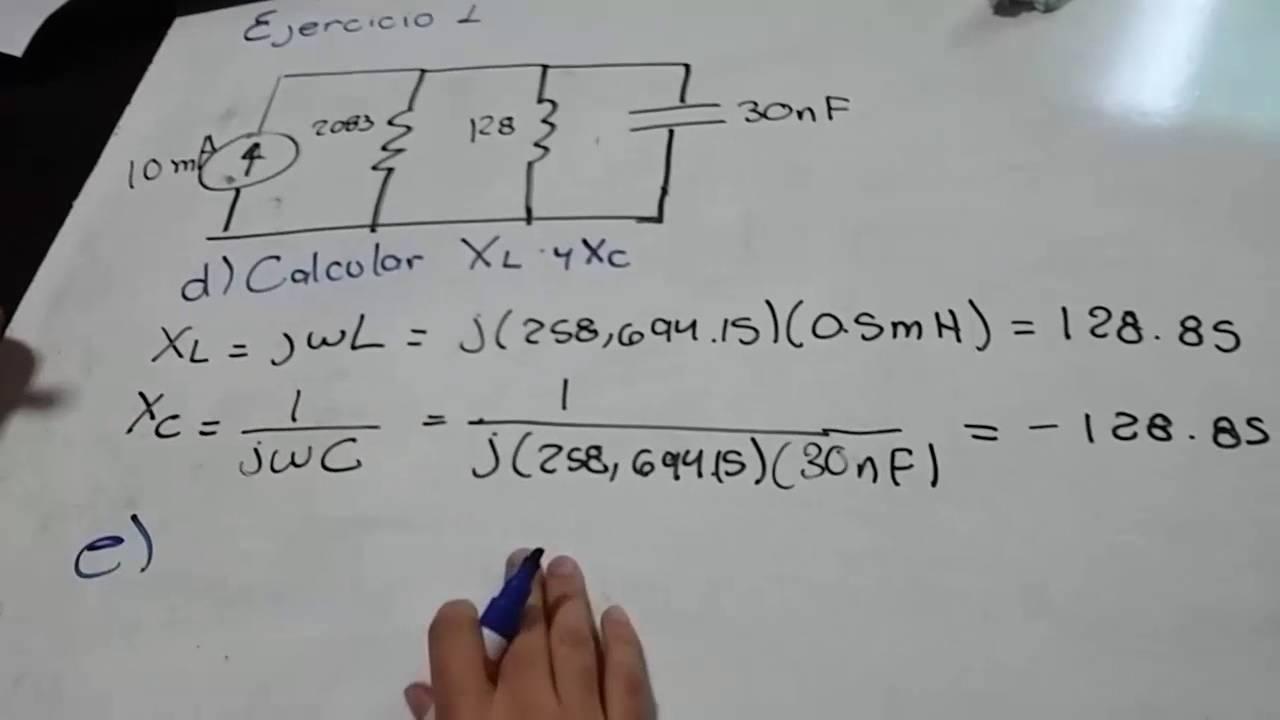 Circuito En Paralelo Ejemplos : Ejercicios resonancia analisis de circuitos youtube