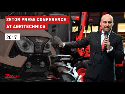 Zetor press conference at Agritechnica 2017