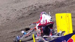 Bad crash unadilla 2016 pro dirt bike racing #13 Jesse Nelson