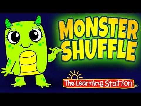 Monster Shuffle | Halloween Dance Song for Kids | Halloween Songs for Kids | Halloween Kids Dance