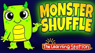 Monster Shuffle 👻  Halloween Dance Songs for Kids 👻 Halloween Songs by The Learning Station