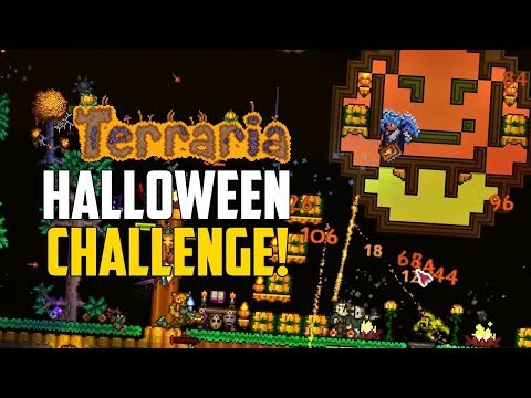 Terraria HALLOWEEN Special #1 | Solar Eclipse CHALLENGE! | 1.3.5 PC