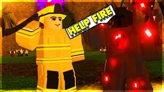 FIREFIGHTER CARRIES PEOPLE IN DUNGEON! (ROBLOX DUNGEON QUEST)