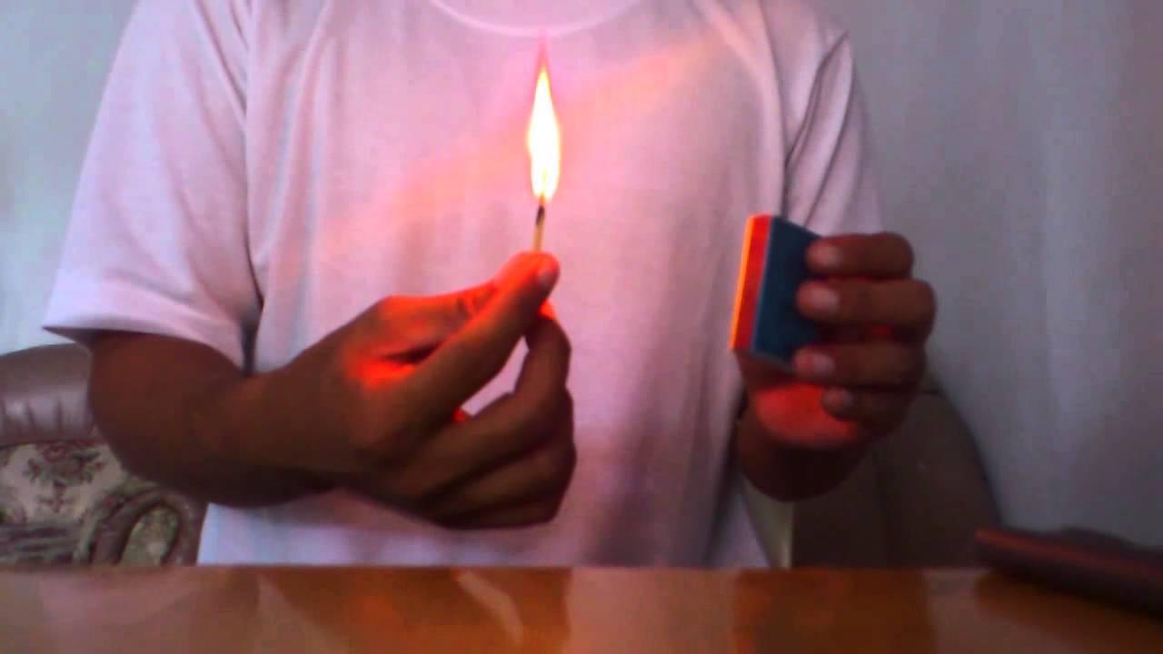 korek api kayu menyala dua kali - YouTube