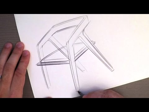 Industrial Design Sketching Let's Sketch a Chair Real Quick
