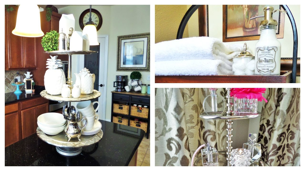 Home Decor 3 Ways To Use Tiered Stands Youtube