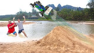 RC Car Giant Beach Jump Hawaii Adventure!!