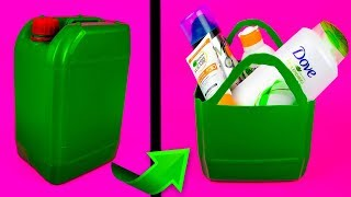 RECYCLING PROJECTS: 5 Great Ideas from Shampoo & Detergent Box