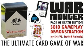 Solo Play Demo - Warmonger: The Ultimate Card Game of War