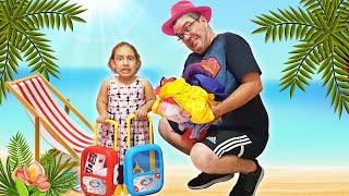 Maria Clara e Papai vão fazer uma viagem ✈️ - MC Divertida