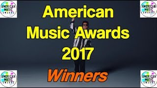 American Music Awards 2017 - All Winners [AMA's 2017]