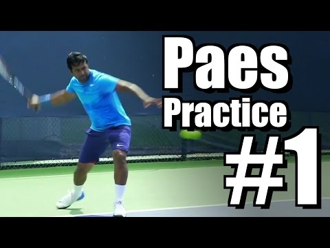 Leander Paes | Forehand and Backhand #1 | Western & Southern Open 2014