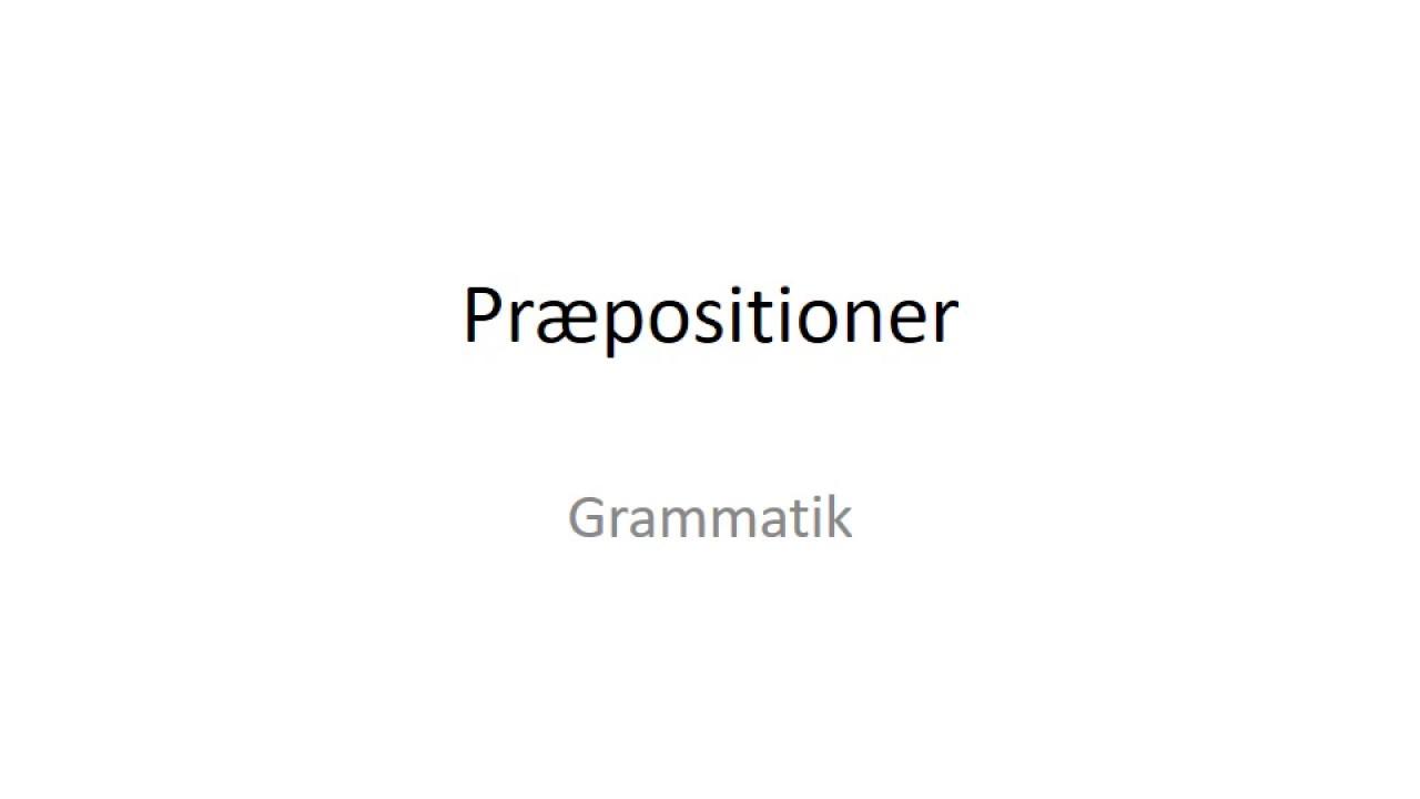 Præpositioner på tysk
