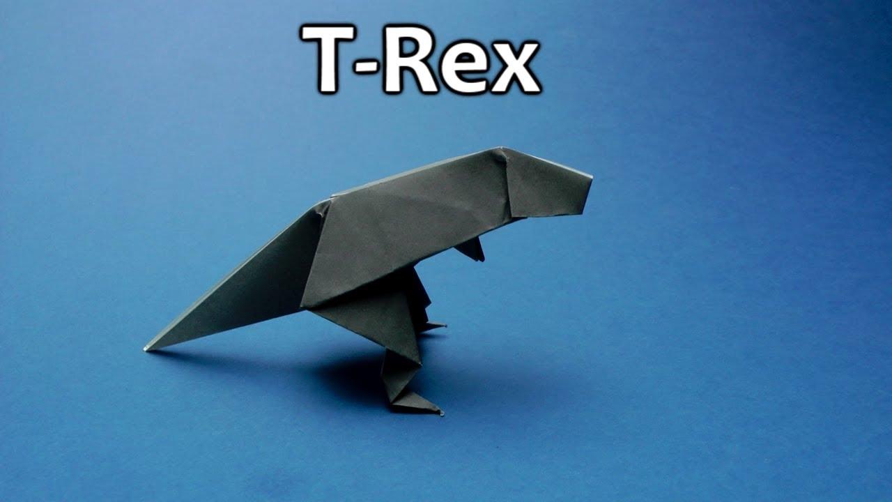 Origami Easy T Rex Youtube