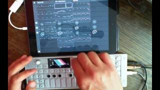 op 1 synced with ipad auxy gadget