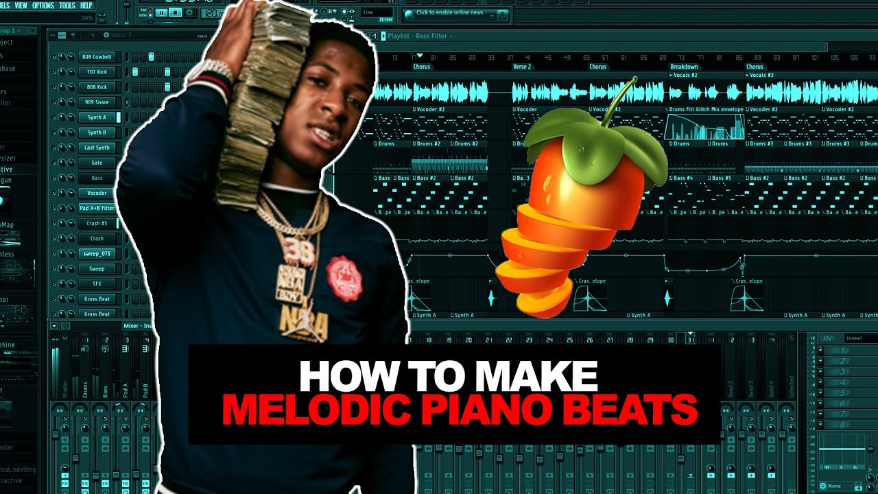 MAKING A MELODIC PIANO BEAT FROM SCRATCH | FL Studio Cookup image