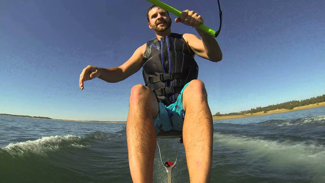 Gutsy air chair flip over dock mike murphy on hydrofoil waterskiing - Air Chair Adventures